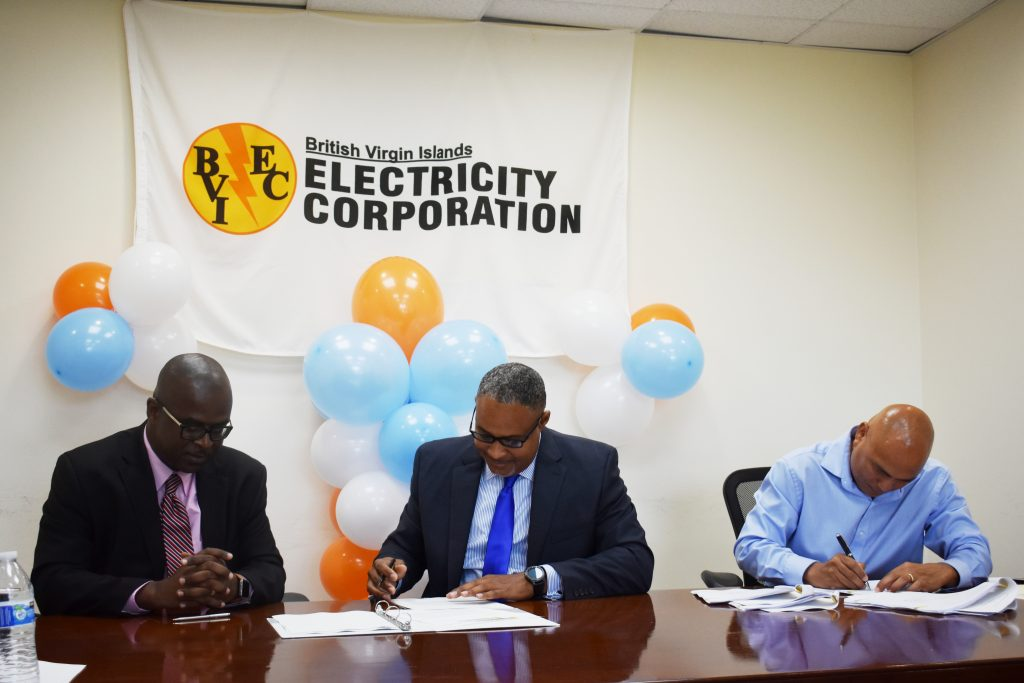 BVIEC contract signing