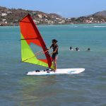 Olympic windsurfing champion Charline Picon teaches YEP students the sport.