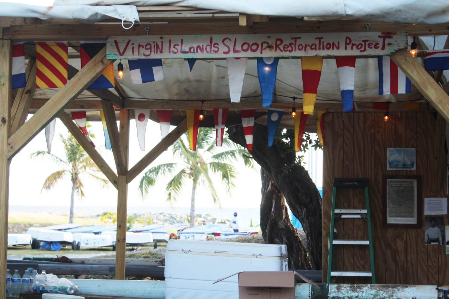 The Virgin Islands Sloop Restoration Project building in Nanny Cay opened shop.