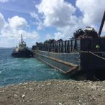 The Department of Waste Management transported about 180 derelict vehicles from Virgin Gorda to Tortola last week.