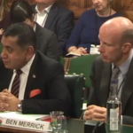 Lord Tariq Ahmad, minister of state for the Commonwealth and United Nations at the Foreign and Commonwealth Office, and Ben Merrick, director of overseas territories at the FCO, speak to the House of Commons' Foreign Affairs Committee in December during its probe into the United Kingdom's relationship with the overseas territories.